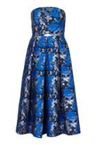 Topshop Shadow Jacquard Midi Dress