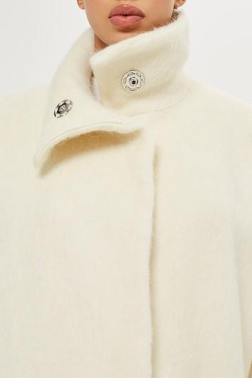 Topshop Cocoon Sleeve Coat By Boutique