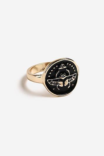 Topshop *enamel Disc Ring