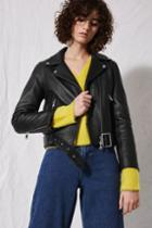 Topshop *belted Leather Biker Jacket By Boutique