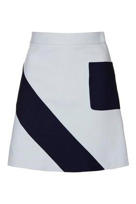 Topshop Mega Crepe Panel A-line Mini Skirt