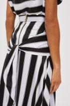 Topshop Sandwashed Stripe Silk Skirt By Boutique