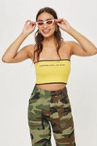 Topshop Petite 'catching Rays' Bandeau Top