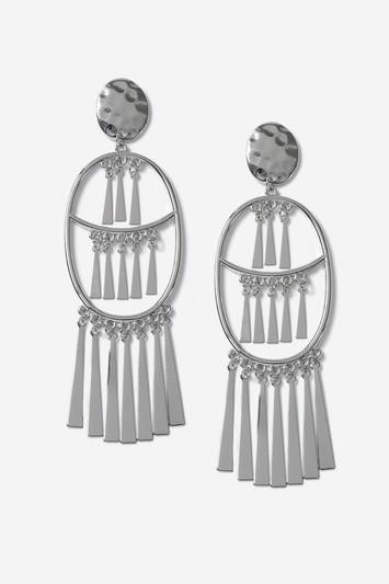 Topshop Tassel Hoop Earrings