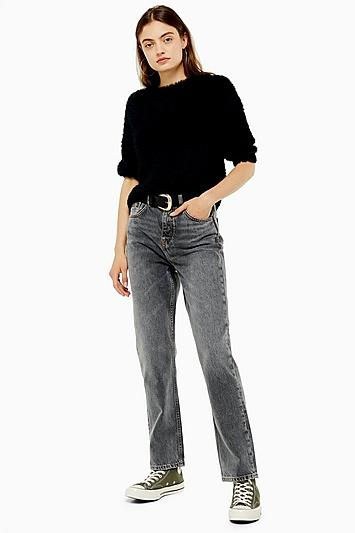 Topshop Gray High Rise Jeans