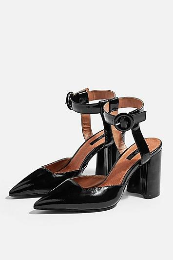 Topshop Graceful Ankle Strap Heels