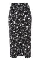 Topshop Floral Plisse Wrap Skirt