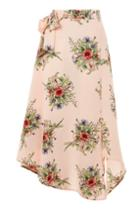 Topshop Tall Floral Wrap Skirt