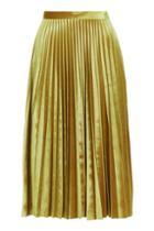Topshop Tall Velvet Pleated Midi Skirt