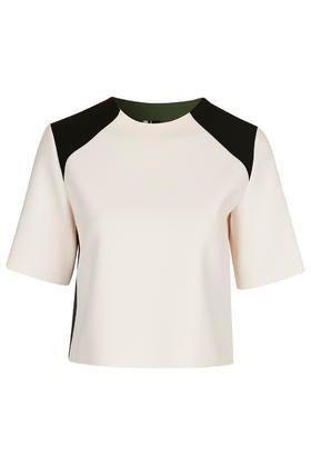 Topshop Structured Colour-block Top