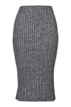 Topshop Petite Salt And Pepper Tube Skirt