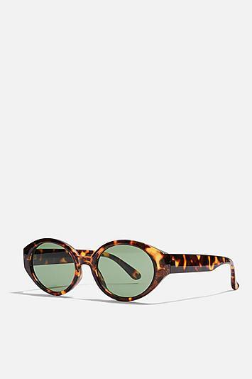 Topshop Oval Tortoise Shell Sunglasses