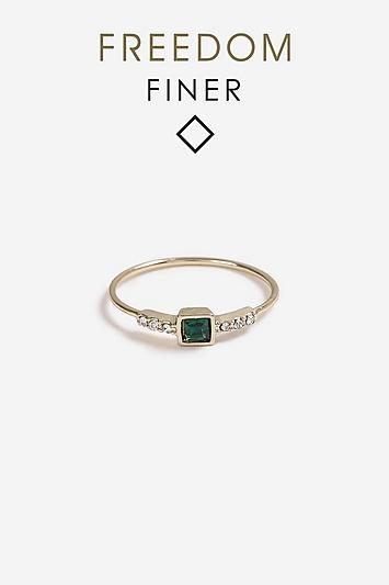 Topshop *freedom Finer Square Stone Ring