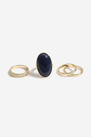 Topshop *large Oval Ring Pack