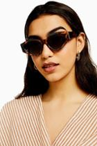 Topshop Dion Tortoiseshell And Navy Sunglasses