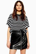 Topshop Tall Stripe Boxy T-shirt