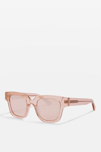 Topshop Premium Acetate Glitter Frame Chunky Sunglasses