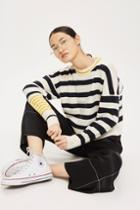 Topshop Slouchy Stripe Sweater