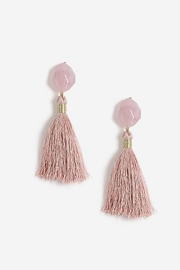 Topshop Stone Tassel Drop Earrings