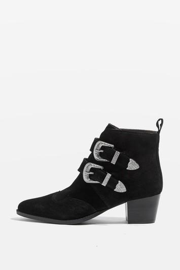 Topshop Montana Western Ankle Boots