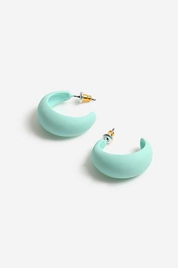 Topshop Soft Touch Mini Hoop Earrings