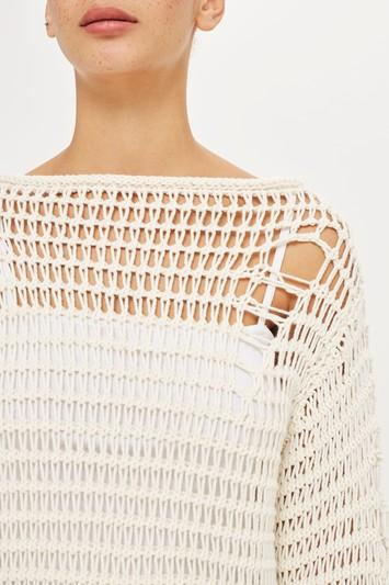 Topshop Distressed Knitted Jumper By Boutique