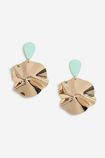 Topshop Folded Sheet Drop Earrings