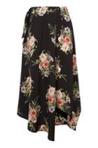Topshop Annarocks Floral Wrap Skirt
