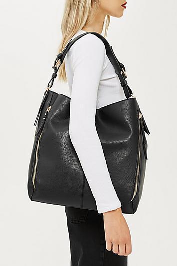 Topshop Hailee Zip Hobo Bag