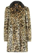 Topshop Faux Fur Leopard Print Swing Coat