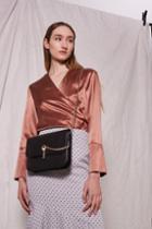 Topshop Amelia Premium Leather Cross Body Bag