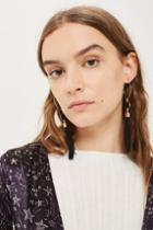 Topshop *hoop And Tassel Earrings