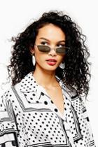 Topshop Half Rim Slim Sunglasses