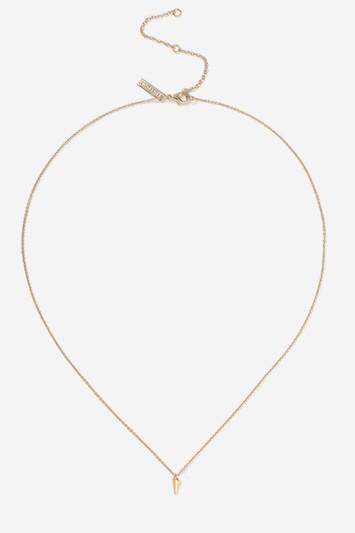 Topshop Tusk Drop Necklace