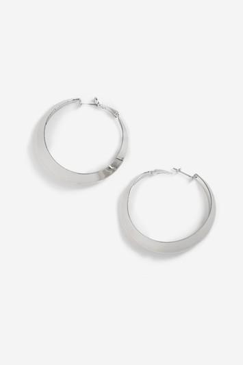 Topshop Beaten Ridge Hoop Earrings