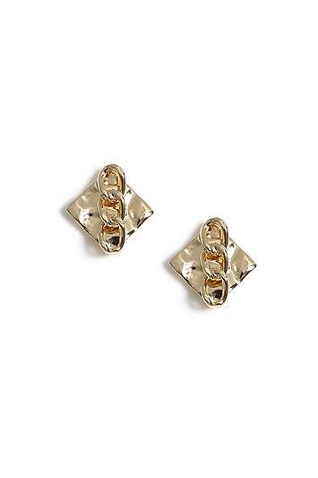 Topshop Crushed Stud Earrings