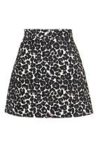 Topshop Jaquard Animal A-line Skirt
