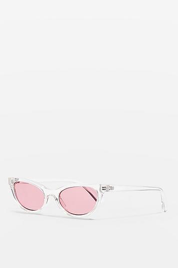 Topshop Pearl Mini Cats Eye Sunglasses