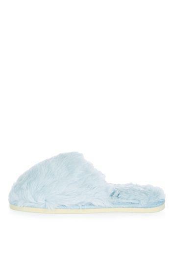 Topshop Furry Mule Slippers