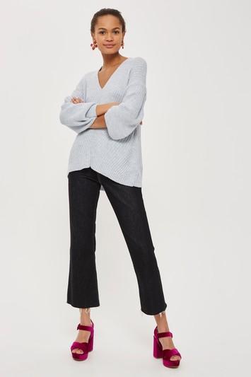Topshop Asymmetrical Longline Sweater