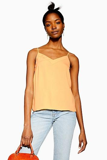 Topshop Yellow V-insert Cami