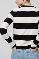Topshop Mono Wide Stripe Top By Boutique