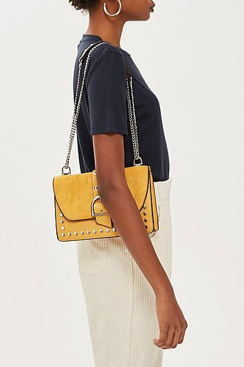 Topshop Bronte Suede Shoulder Bag
