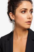 Topshop *rhinestone Drop Earrings