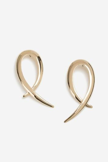 Topshop Curved Cross Over Drop Earrings