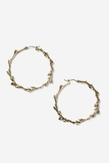 Topshop Vine Hoop Earrings