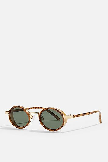 Topshop Selma Round Tortoiseshell Sunglasses