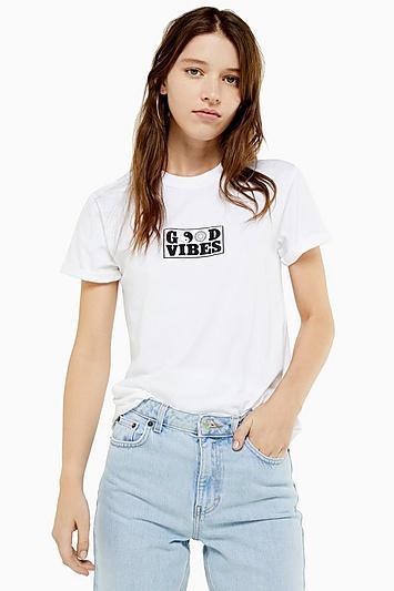 Topshop Good Vibes T-shirt