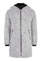 Topshop Salt And Pepper Wool Coat