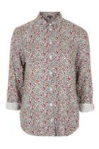 Topshop Long Sleeve Ditsy Shirt